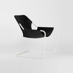 Paulistano Leather - White/BlackMatt | Armchairs | Objekto