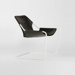 Paulistano Leather - White/Macassar | Armchairs | Objekto