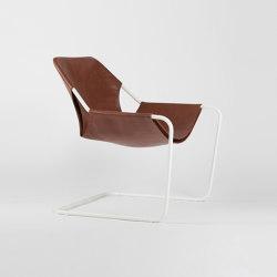 Paulistano Leather - White/Terracotta | Armchairs | Objekto