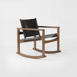 PegLev Rocking Chair - Walnut/Macassar | Armchairs | Objekto