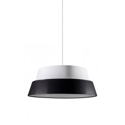 Photo Lampshade - White/Black | Suspended lights | Objekto