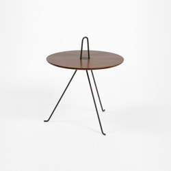 Tipi - 37cm/Walnut | Side tables | Objekto