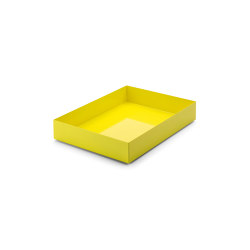 Stapler | File Tray Stack, falter sulfur yellow RAL 1016 | Desk tidies | Magazin®