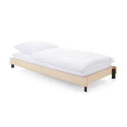 Bed Stiege, stackable, ash / jet black RAL 9005 | Beds | Magazin®