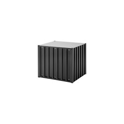 Container DS Small, black grey RAL 7021 | Storage boxes | Magazin®