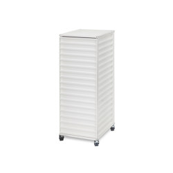 Container DS Plus, pearl white RAL 1013 | Pedestals | Magazin®