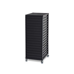 Container DS Plus, black grey RAL 7021 | Pedestals | Magazin®