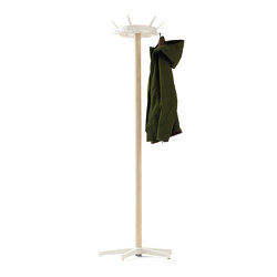 Wardrobe Belgo, ash / pure white RAL 9010 | Coat racks | Magazin®