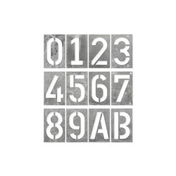 House Number Spiekermann Industrual, hot-dip galvanised | House numbers / letters | Magazin®