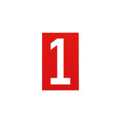 House Number Spiekermann Industrual, pure red RAL 3028 | House numbers / letters | Magazin®
