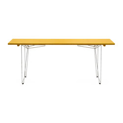 Table and Bench BTB, tabletop zinc yellow RAL 1018 | Dining tables | Magazin®