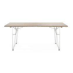 Table and Couch LTL, tabletop agate grey RAL 7038 | Dining tables | Magazin®