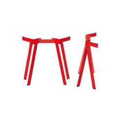 Lebock | Trestle (1 pair), luminous red RAL 3024 | Tréteaux | Magazin®