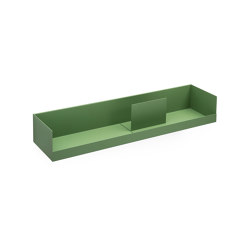 Boks | Wall Shelf, reseda green RAL 6011 | Shelving | Magazin®