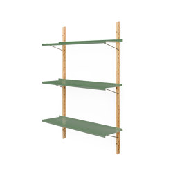 RM3 | Shelf, reseda green RAL 6011 | Shelving | Magazin®