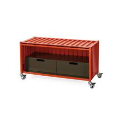 Container DS, red orange RAL 2001 | Sideboards | Magazin®