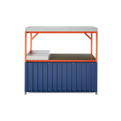 Container DS, saphire blue RAL 5003 | Aparadores | Magazin®