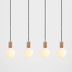 Enno Oak Ceiling Light | Suspended lights | Tala