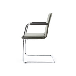 sitting smartF | Cantilever with integrated armrests | Sillas | lento
