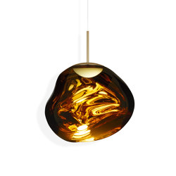 Melt Pendant Gold LED | Suspended lights | Tom Dixon