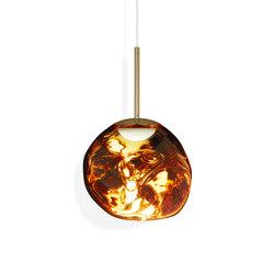 Melt Pendant Mini Gold LED EU   Suspended lights   Tom Dixon