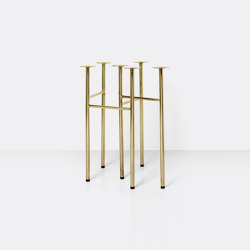 Mingle Table Legs W48 (Set of 2) - Brass | Trestles | ferm LIVING