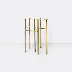 Mingle Table Legs W48 (Set of 2) - Brass   Trestles   ferm LIVING