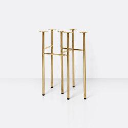 Mingle Table Legs W48 (Set of 2) - Brass | Tréteaux | ferm LIVING