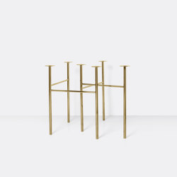 Mingle Table Legs W68 ( (Set of 2) - Brass   Trestles   ferm LIVING