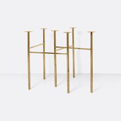 Mingle Table Legs W68 (Set of 2) - Brass | Tréteaux | ferm LIVING