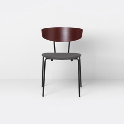 Herman Chair Upholstered - Red Brown/Warm Grey - Fiord 371 | Chairs | ferm LIVING