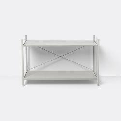 Punctual Shelving System 1x2 - Grey | Estantería | ferm LIVING