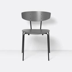Herman Chair - Leather - Warm Grey/Grey | Stühle | ferm LIVING