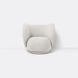 Rico Lounge Chair - Bouclé - Off White   Fauteuils   ferm LIVING