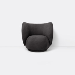 Rico Lounge Chair - Bouclé - Warm Dark   Fauteuils   ferm LIVING