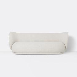 Rico 3-Seater Sofa - Bouclé - Off-White   Sofas   ferm LIVING