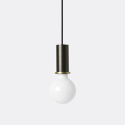 Socket Pendant - Low - Black Brass | Suspended lights | ferm LIVING