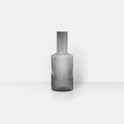 Ripple Carafe - Smoked Grey | Garrafas | ferm LIVING