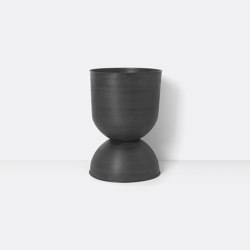 Hourglass Pot - Large - Black/Dark Grey | Plant pots | ferm LIVING