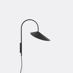 Arum Wall Lamp - Black | Wall lights | ferm LIVING