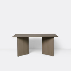 Mingle Table Top 160 cm - Dark Stained Oak Veneer | Dining tables | ferm LIVING