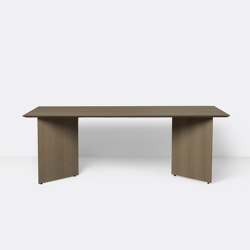Mingle Table Top 210 cm - Dark Stained Oak Veneer | Dining tables | ferm LIVING
