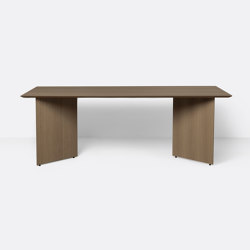 Mingle Table Top 210 cm - Dark Stained Oak Veneer | Tavoli pranzo | ferm LIVING