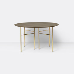 Mingle Table Top Round Ø130 - Dark Stained Oak Veneer | Dining tables | ferm LIVING