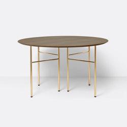 Mingle Round Table Top - Ø: 130cm - Dark Stained Oak Veneer | Esstische | ferm LIVING