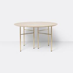Mingle Table Top Round Ø130 - Natural Oak Veneer | Dining tables | ferm LIVING