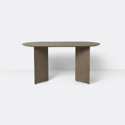 Mingle Table Top Oval 150 cm - Dark Stained Oak Veneer | Dining tables | ferm LIVING