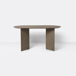 Mingle Table Top Oval 150 cm - Dark Stained Oak Veneer | Tables de repas | ferm LIVING