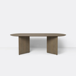 Mingle Table Top Oval 220 cm - Dark Stained Oak Veneer | Dining tables | ferm LIVING