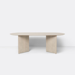 Mingle Table Top Oval 220 cm - Natural Oak Veneer | Dining tables | ferm LIVING